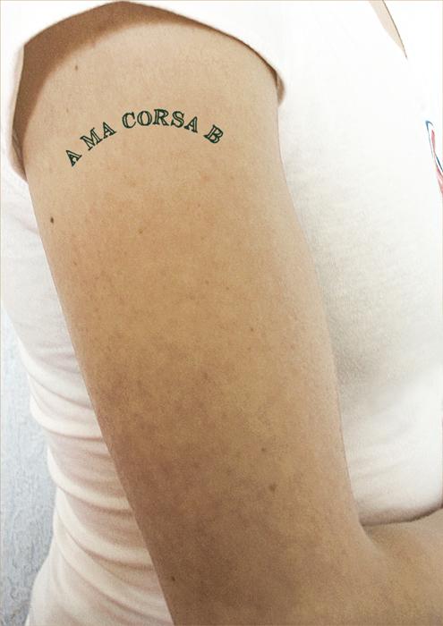 Natacha Mercier tatoo Corsa