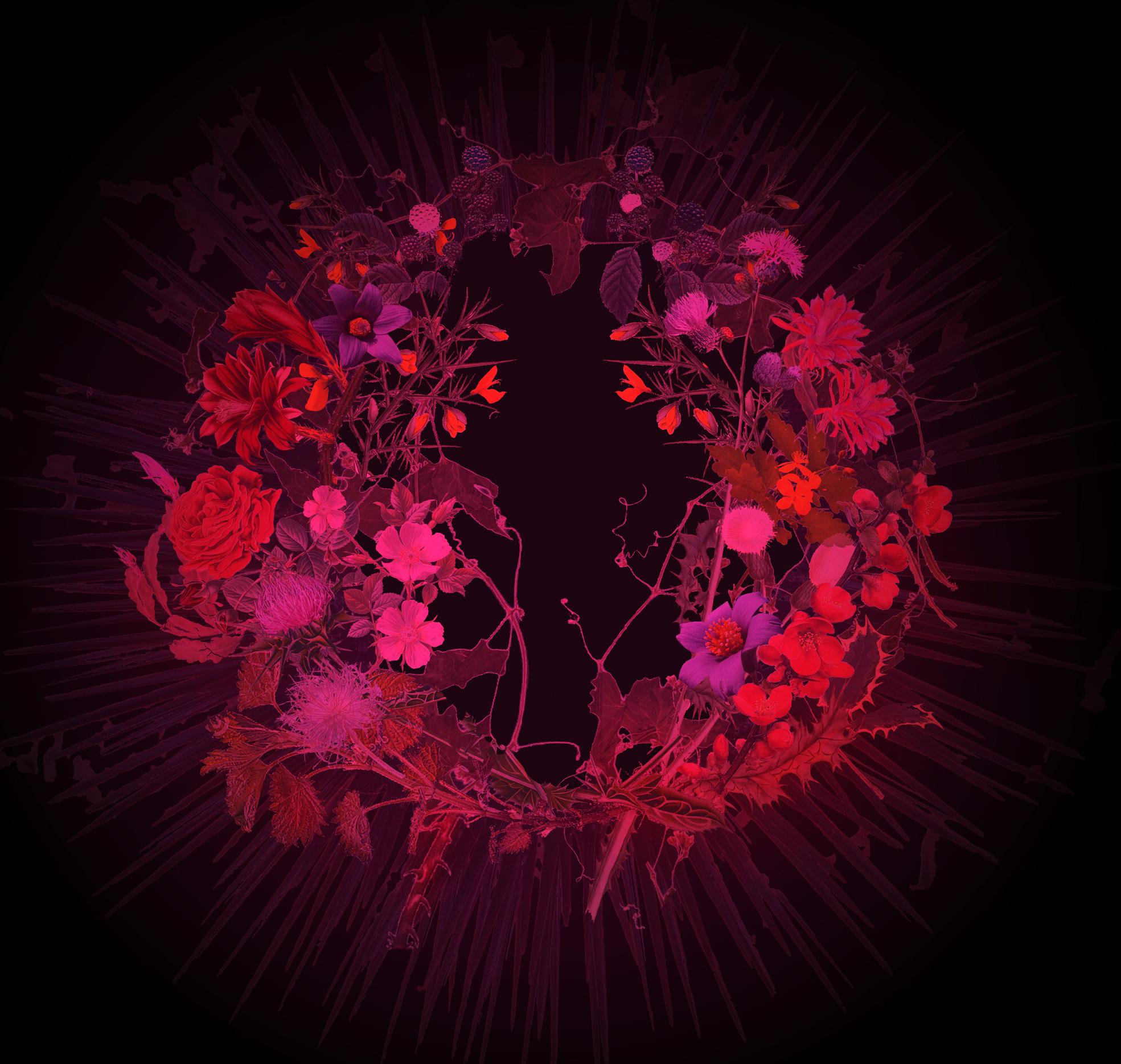 peinture de fleurs rouge