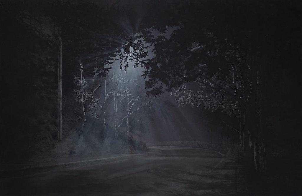 Illusion des illusions. Acrylique sur toile, 195 x 130 cm - 2021.